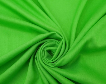 "Green Rayon Fabric, Sewing Crafts, Upholstery Fabric, Dress Fabric, Quilt Material, 43"" Inch Fabric By The Yard PZBR5N"