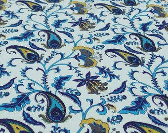 "Dressmaking Fabric, Floral Print, Fashion Fabric, Sewing Accessories, 43"" Inch Cotton Fabric By The Yard ZBC8813B"