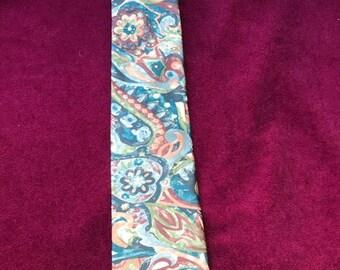 vintage tie/pure silk tie/floral vintage tie/vintage italian tie