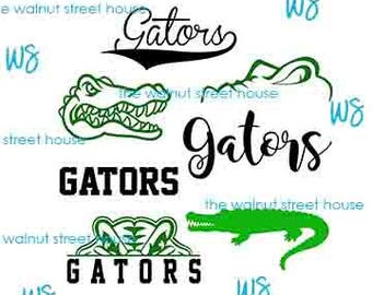 SVG - Gator SvG. JPG included. Digitally downloadable file only Mascot Gator Logo TEam Spirit Logo,  Gator Clipart