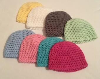 Crochet infant hat 2 pack