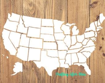 50 States SVG, Us Map Outline, USA Svg, United States of America Svg, All States SVG, States Outline Svg, State Svg, States Cutting File Svg
