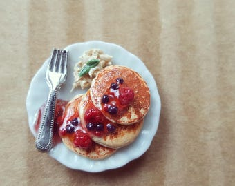 Miniature Pancake Stack with Berries