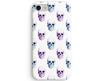 Pastel watercolor skulls - iPhone 7 case, samsung s7 case, iphone 7 plus case, iphone se case 1P057A