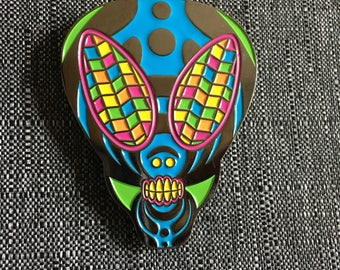 Bassnectar alien hat pin- Bassnectar pins, festival accessories, hat pins, Bassnectar, pins and patches, hat pin