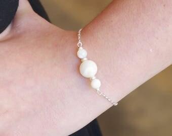 """Bracelet plaqué argent """" Ivan """" en nacre"""
