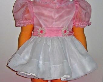 Patti Playpal PINK CHIFFON dress FREE Shipping for 36 inch companion dolls, Patti Playpal,Janie,Joanie, Madame Alexander,Ideal,doll clothes