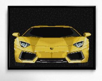 Lamborghini Aventador Lamborghini Art Wall Art Supercar Man Cave Gift For  Him Automotive Art Lamborghini Art