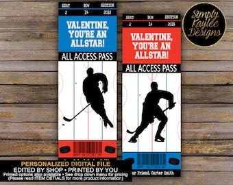 hockey valentine cards etsy hockey valentines cards