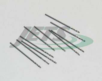 Jobbers Drill Bits Metric HSS Twist Drills 0.7mm Diameter Bright Finish 10 Piece (1E)