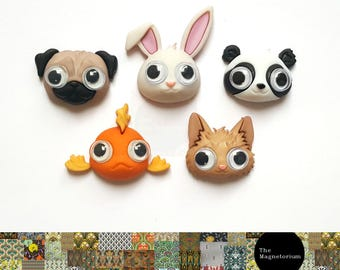 Googly Animal Fridge Magnet Set