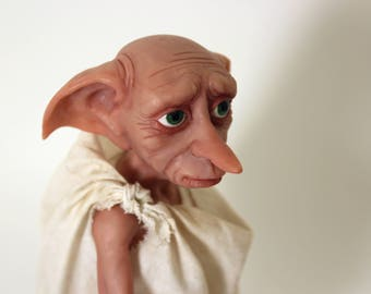 Harry Potter Dobby the House Elf art doll, polymer clay figure, will make to order