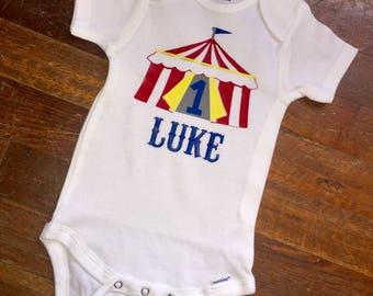 Circus First Birthday Outfit, Circus Cake Smash Outfit, Circus First Birthday Onesie, Circus Cake Smash, Baby Boy 1st Birthday Outfit