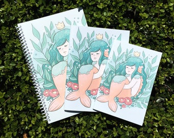 Sleepy Mermaid Notebook