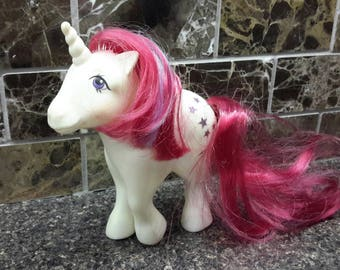 1983 Hasbro Moondancer My Little Pony Hong Kong My Little Pony, Unicorn, Moondancer,  G1, Vintage 1983, My Little Ponies