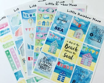 Life's a beach - planner/journal stickers