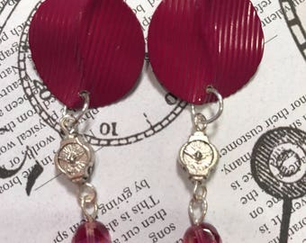 Vintage Earrings with Holy Spirit Beads