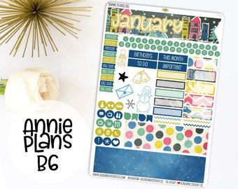 Annie Plans B6 Size Monthly Kit | You pick the month! 774L