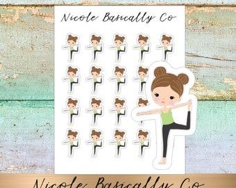 Jade Dolls- Yoga- Character Stickers