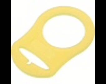 Ring adapter lollipop baby yellow color BPA free silicone