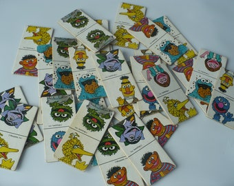 Vintage Domino Game, Vintage Sesame Street Game, Big Bird, Bert and Ernie, Oscar the Grouch, Muppets Inc.
