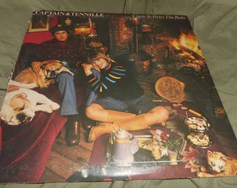 ON SALE Captain and Tennille Come in From the Rain - A&M Records 1977 With Poster