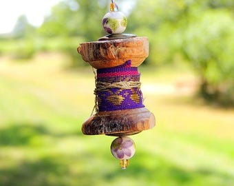 This keychain, mini wooden spool made hand - purple https://boutique-milyd1.eproshopping.fr/