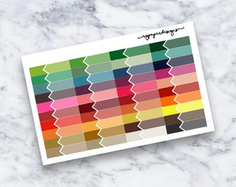 Activity Labels | Multicolored | Functional | Planner Stickers | ECLP | Happy Planner