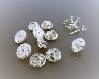20 supports pin's métal coloris argent