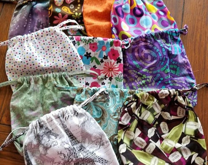 Set of 2 drawstring pouches