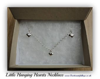 Little hanging hearts Necklace