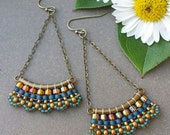 Replacement Earring - Amber & Blue Boho Sway Earring