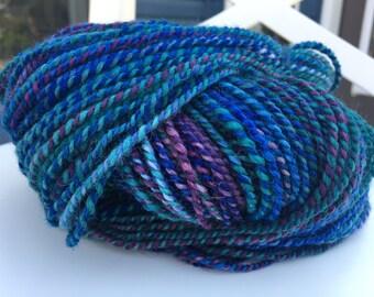 Hand Spun BFL Yarn Fractal Striping