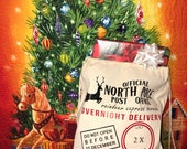 Personalized Santa Sack, Personalized Christmas Sack, Custom Santa Bag, Christams Sack, Santa Mail Sack, From Santa, Monogramed, Santa Bag