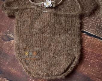 Photography newborn set baby girl with headband