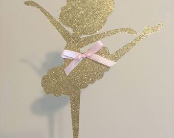 Baby Ballerina Cake Topper, Little Ballerina Cake Topper