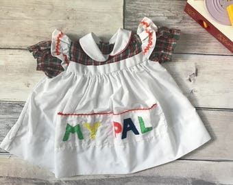 Girls My Pal 2-3T Blouse or 18-24 month dress Faux Pinafore