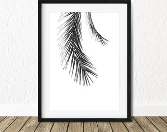 Palm Print Wall Art, Palm Leaf Wall Decor, Tropical Palm Leaves, Palm Leaf Print, Palm Trees Print, Palm Wall Print, Palm Leaf Poster