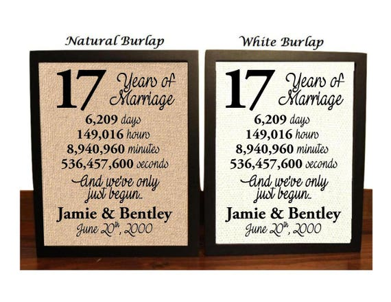 17th Wedding Anniversary Gifts For Her: 17th Anniversary 17 Year Anniversary 17th Anniversary Gift