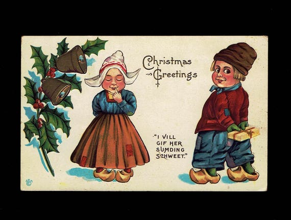 Christmas greetings dutch boy and girl i vill gif her like this item m4hsunfo