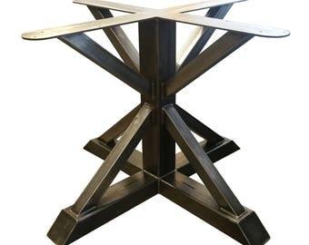 Metal Pedestal Trestle Table Legs   Round Table, Single Leg, Industrial  Steel, Kitchen