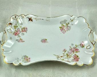 German porcelain dresser tray