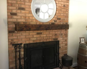 Reclaimed Mantle/ Heart Pine Mantle/ Solid Beam Mantle