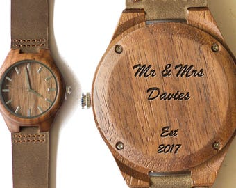 Wooden Watch, Wood Watch, Engraved Watch, Husband Gift, Boyfriend gift, Gifts for Him, Watch, Mens , Wood Watches for men, Wood Watches