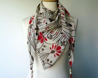 Scarf print scarf retro chic Jini