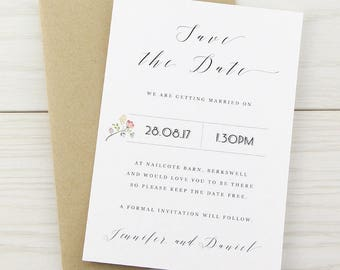 SAMPLE * Country Bloom Save the Date Cards