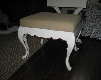 French Mid Century Bench w/ Gold Leafing
