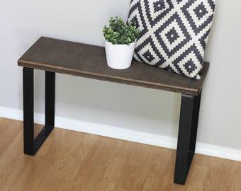 Metal Bench Legs, Flat Bar Steel Coffee Table Base, Black Bench Frame,  Square