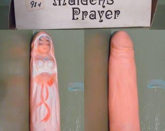 Funny Naughty Maidens Prayer Gag Gift Dirty Joke Rubber Woman Penis Wedding Anniversary Shelf Novelty Mid Century Modern Retro Vintage