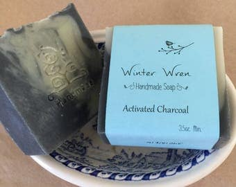 Peppermint or Eucalyptus scented Activated Charcoal with Hemp Oil & French Green Clay